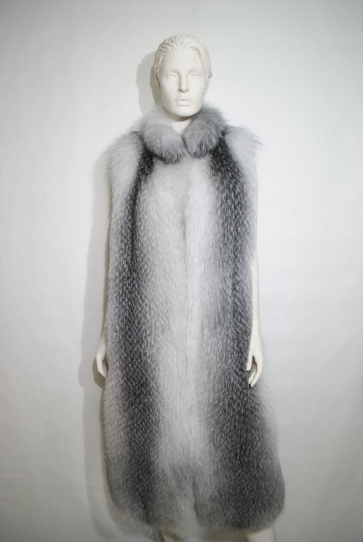 Extraordinary silver fox fur coat from our current collection.
