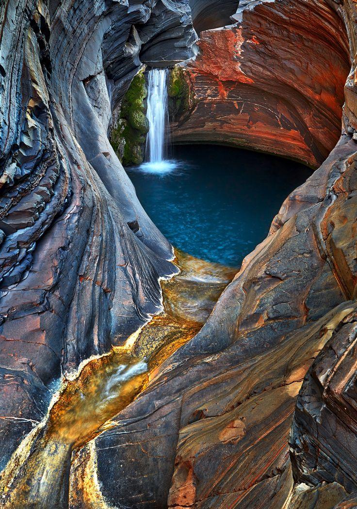 Waterfall located in the Karijini National Park in Western Australia.