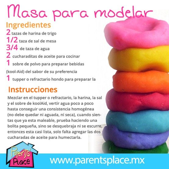 Masa para modelar, busca más recetas en www.parentsplace.com.mx