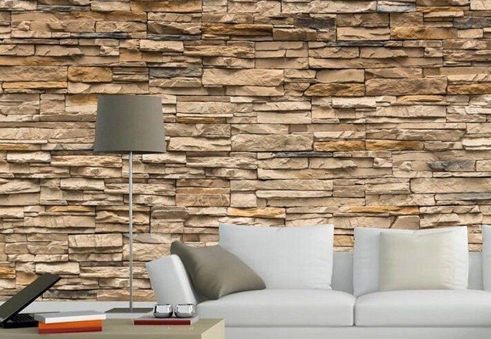 Modern 3D Brick Stone Style Wallpaper