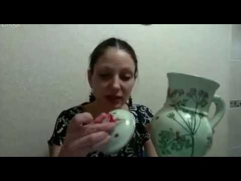 Декупаж керамического кувшина. Ирина Комарова - YouTube
