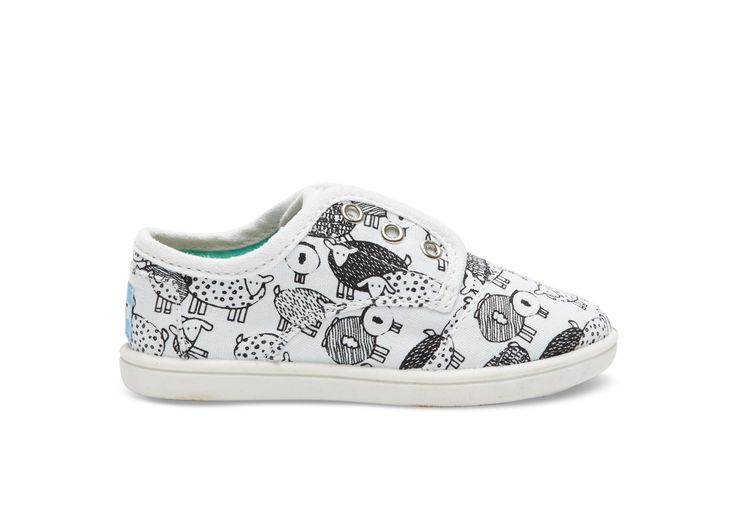 undefined White Canvas Sheep Tiny TOMS Paseos