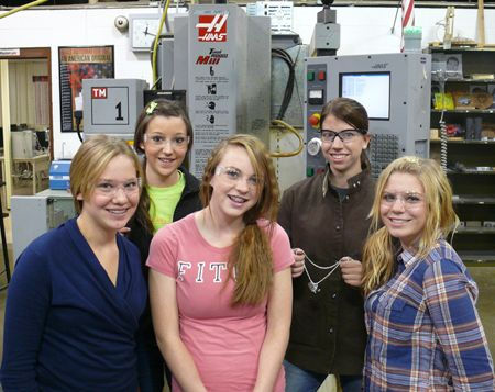 High School Program Introduces Girls to CNC Machining