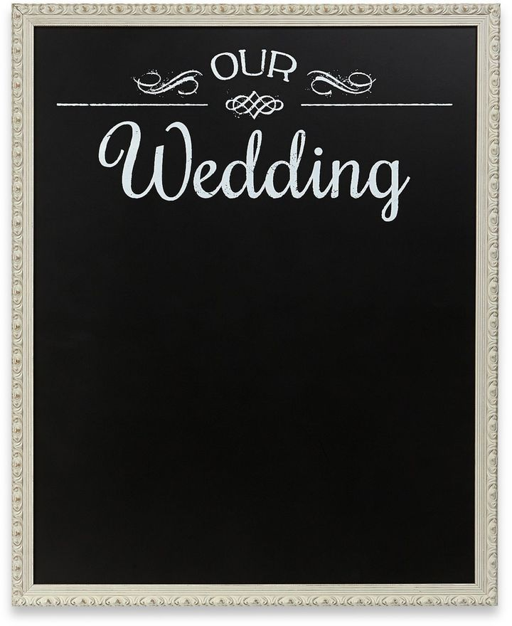 """Our Wedding"" Framed Chalkboard Wall Plaque"
