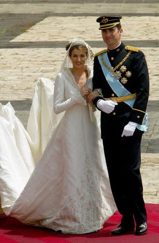 Prince Felipe and Princess Letizia, Prince and Princess of Asturias wedding 22nd May 2004