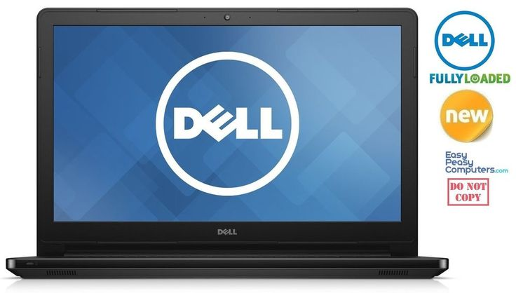 "NEW DELL Laptop Notebook 15.6"" Windows 10 Webcam HDMI WiFi DVD+RW (FULLY LOADED) #Dell #laptops #laptop"