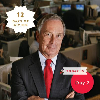 Day 2 in our #12DaysofGiving auction features NYC Mayor Mike Bloomberg! http://chrty.bz/1hwB63V