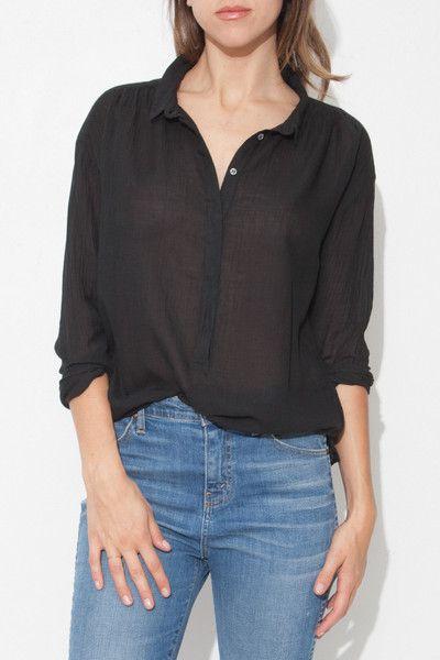 Black Henley Shirt by Pomandere | shopheist.com