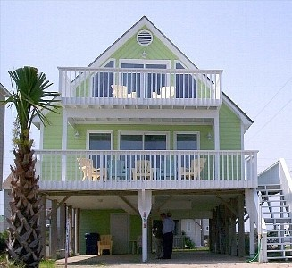 "Topsail Beach house rental - ""The Dolphin View"" at Topsail Beach, NC"