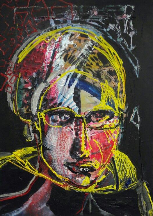 Selfportrait, february 2017 mixed media on canvas 50x70