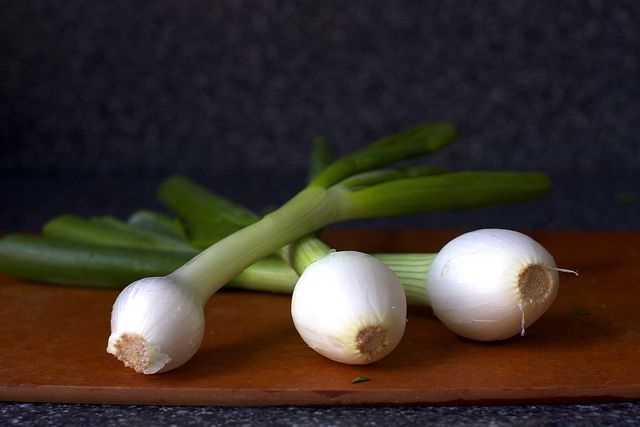 creamed chard and spring onions by smitten, via Flickr