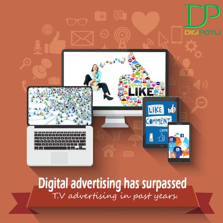 Yes it's a truly refined fact that #DigitalMarketing has surpassed #Television. #Digipotli  #SearchEngineOptimization   #SocialMediaMarketing