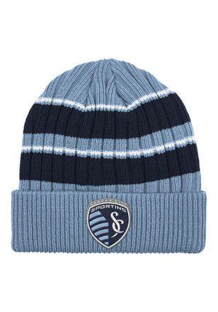 Adidas Sporting Kansas City Light Blue Performance Cuffed Knit Hat