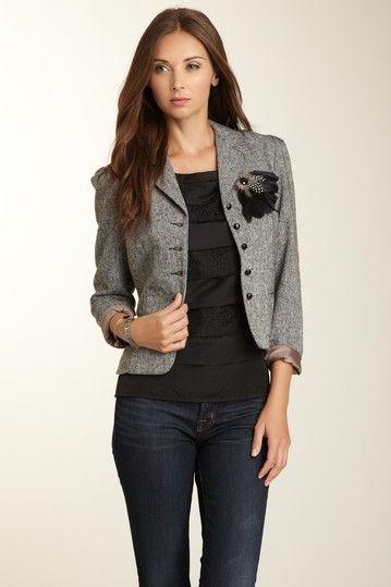 Tweed blazer  http://www.hautelook.com/short/1rFlM