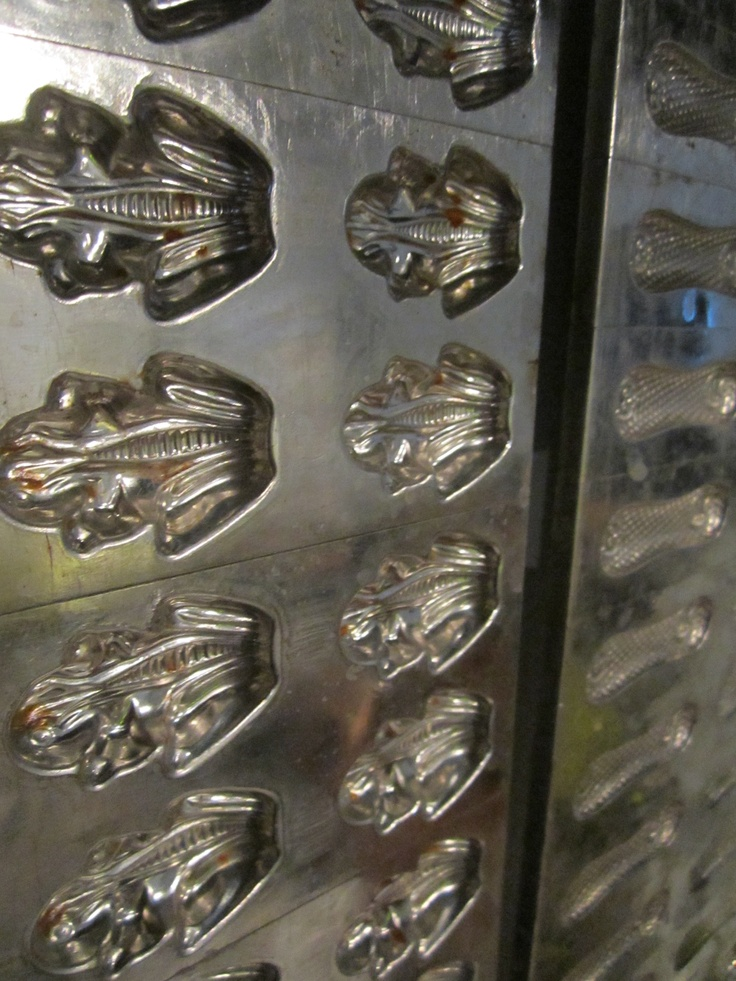 Chocolate molds by Anthon Berg @Restaurant CLOU