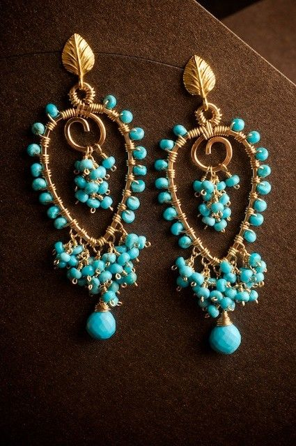 Gorgeous #handmade #turquoise_earrings from etsy