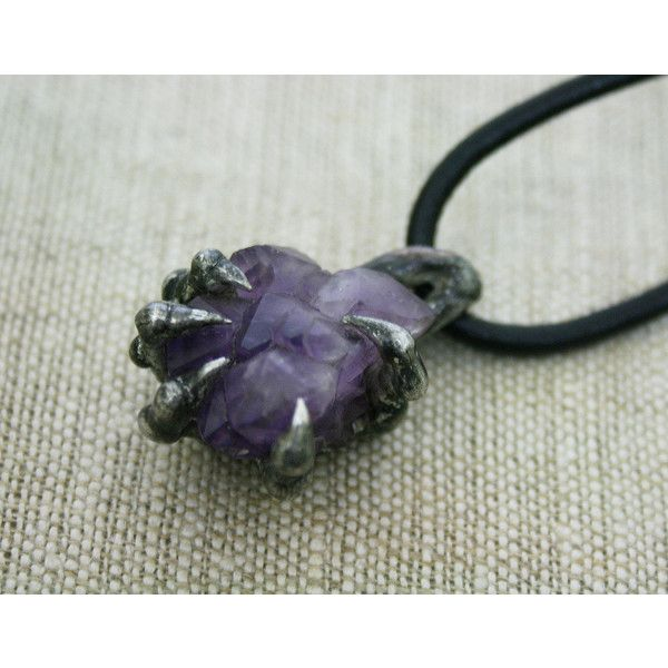 men necklace, amethyst necklace Valentines gift raw necklace purple... (195 PLN) ❤ liked on Polyvore featuring men's fashion, men's jewelry, men's necklaces, mens watches jewelry, mens necklaces and mens silver necklace