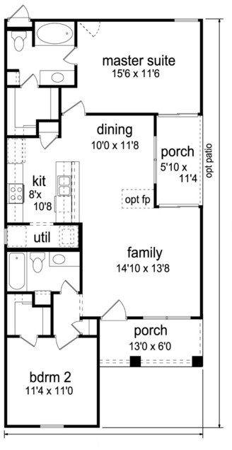 Planos de viviendas 6 x 12 | Casas | Plano de vivienda ...