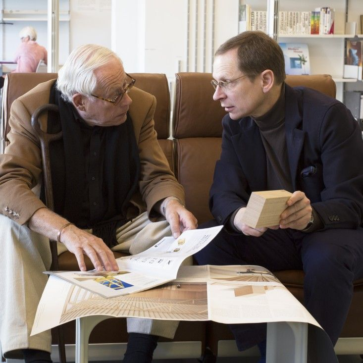 Dieter Rams and Mark Adams talk design at Vitsoe.