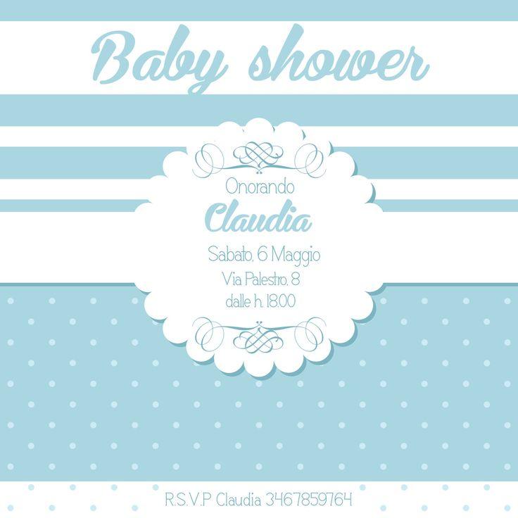 Invito baby shower Boy personalizzato