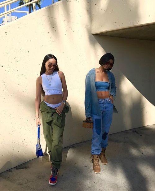 fashion, baddies, and friendship image