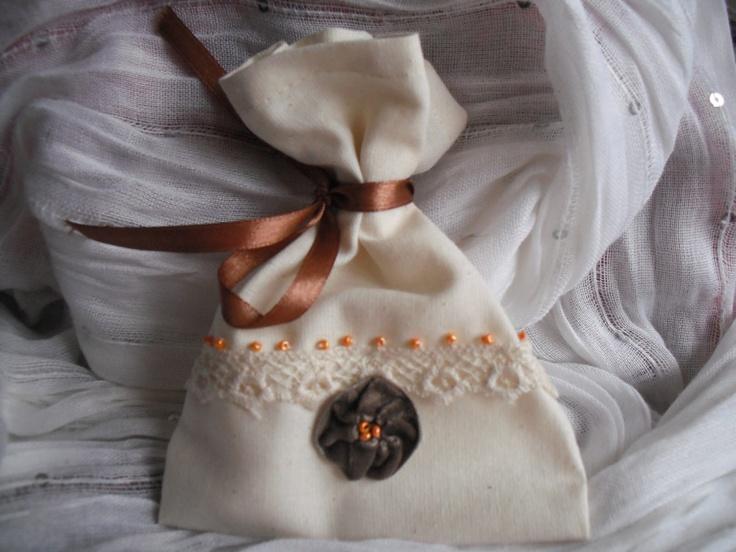 Unique handmade linen gift bags