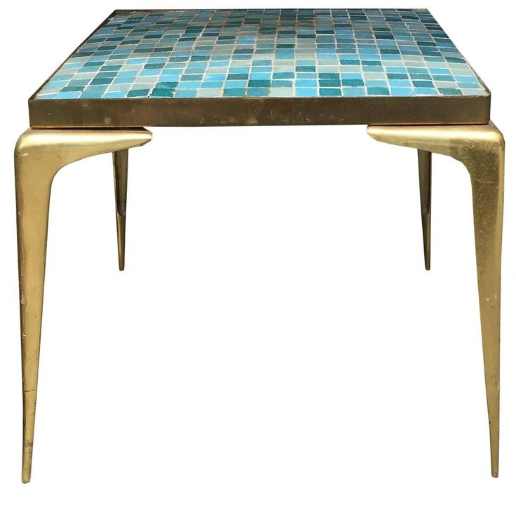 Mid Century Italian Tile Top Table Attributed To Gio Ponti