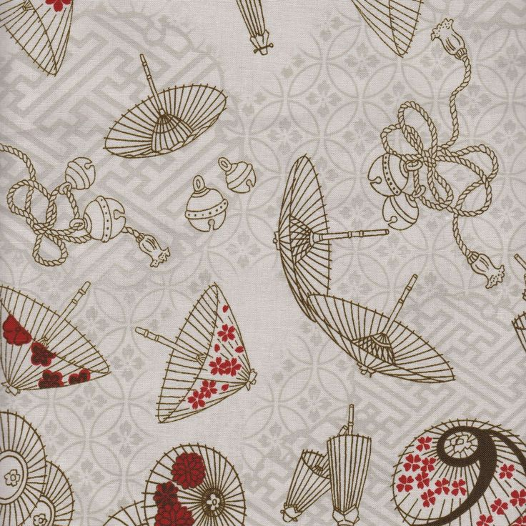 Distinctive Sewing Supplies - Wagara Japanese Umbrella Cotton Print - Ecru, $10.00 (http://www.distinctivesewing.com/wagara-japanese-umbrella-cotton-print-ecru/)