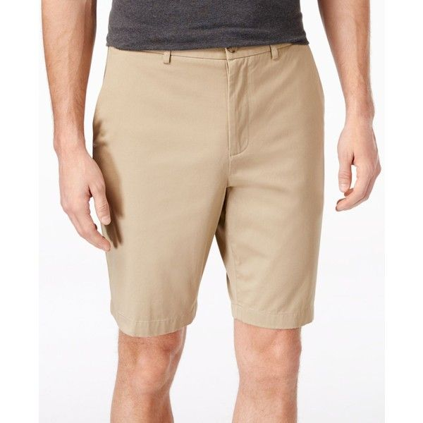 Michael Kors Men's Tailored Flat Front Shorts ($55) ❤ liked on Polyvore featuring men's fashion, men's clothing, men's shorts, khaki, michael kors mens clothing, men's apparel, mens shorts, mens lightweight cargo shorts and mens khaki shorts