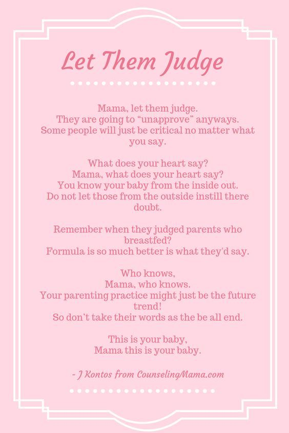 Poem About Motherhood Let Them Judge Breastfeeding Parenting
