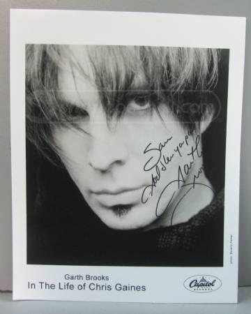 shopgoodwill.com: Garth Brooks Signed Photo Autograph Chris Gaines