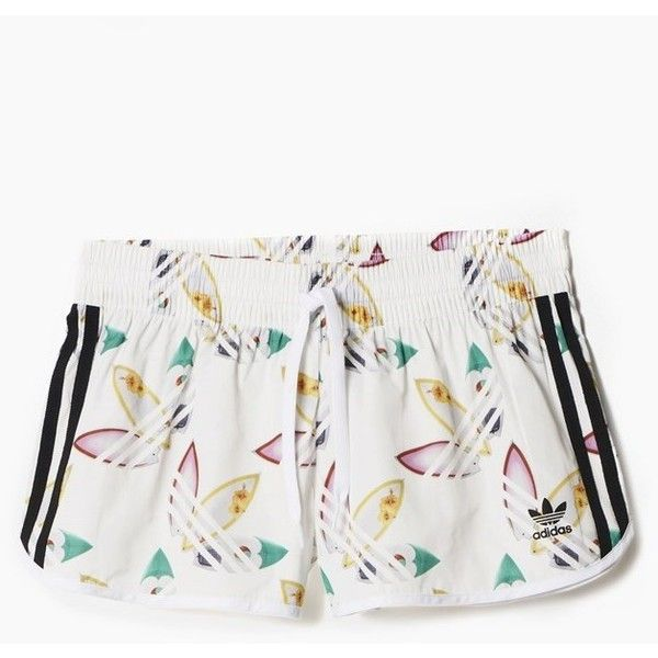 x Pharrell Williams Surf Shorts (£34) ❤ liked on Polyvore featuring shorts and white shorts