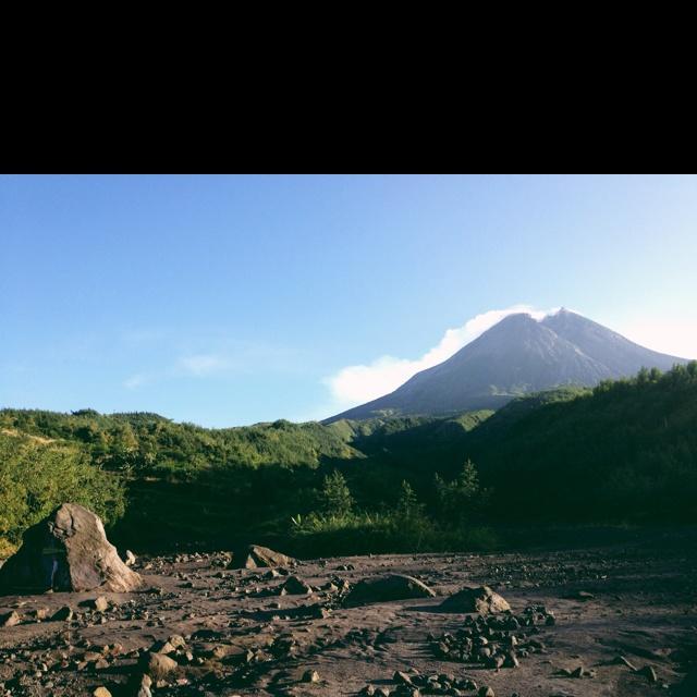 Sunrise at Mt.Merapi, Jogja, Indonesia.