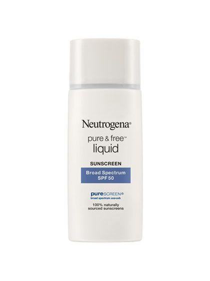 Best of Beauty 2015 Winner -- The best facial sunscreen: Neutrogena Pure & Free Liquid Sunscreen Broad Spectrum SPF 50 | allure.com