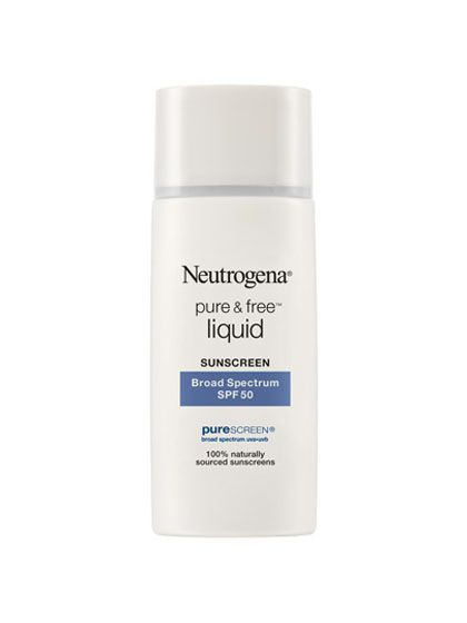 Best of Beauty 2015 Winner -- The best facial sunscreen: Neutrogena Pure & Free Liquid Sunscreen Broad Spectrum SPF 50 | allure.com