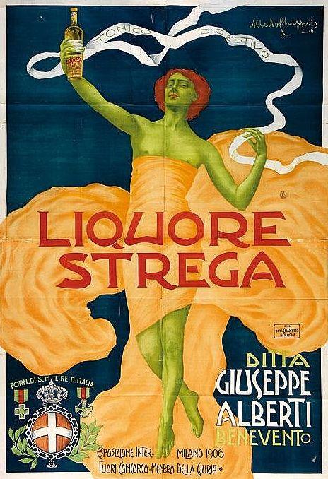 Alberto Chappuis, 1906, Liquore Strega, Milano.