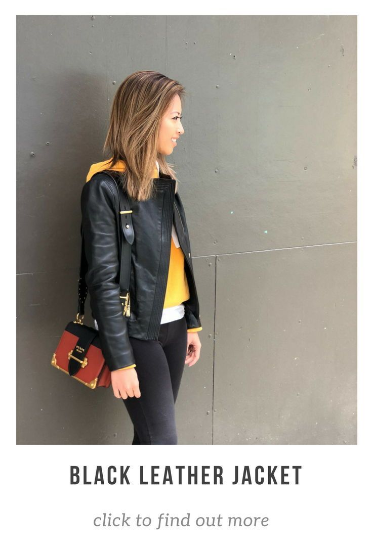 Black Leather Jacket Layer With Yellow Sweater And Leggings Fashion Ootd Causual Shopmylook Shopstylecollective Fashion Leather Jacket Sweaters And Leggings [ 1102 x 735 Pixel ]