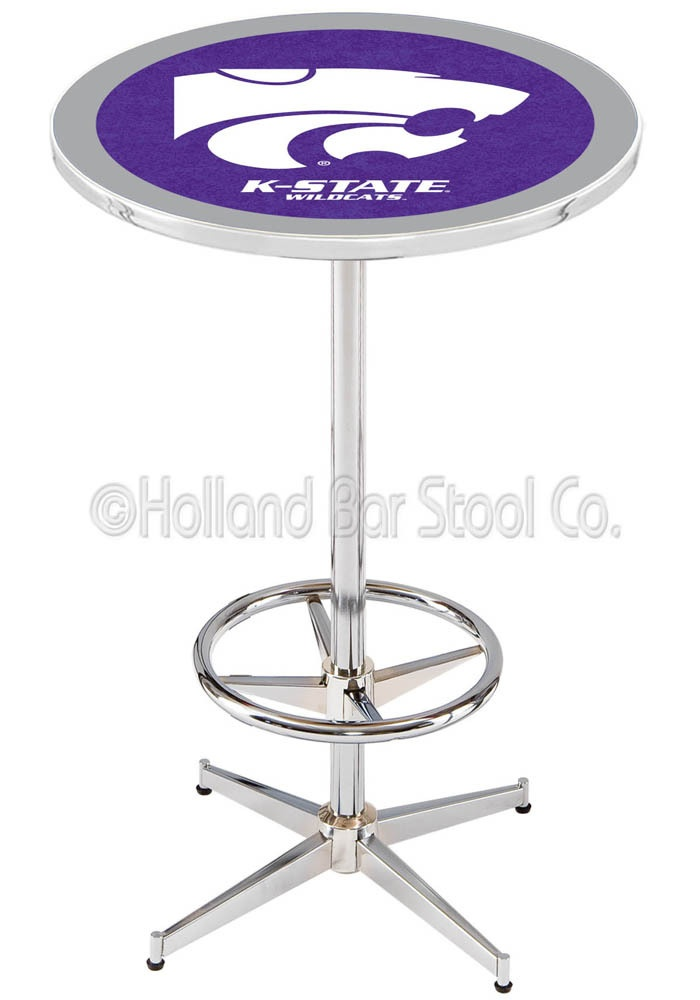 Kansas State Wildcats Pub Table- Man Cave Furniture. Great Christmas gift! Use the coupon code SHIPFREE75 and get free shipping on this item!