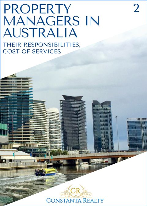 Melbourne, Australia on photo. Article: Property managers in Australia.  Who they are and how much it costs to engage their professional services.