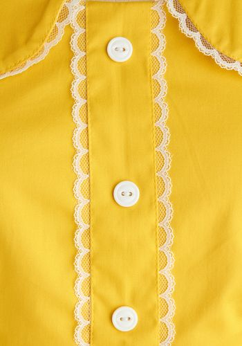 yellow and lace Dandelion Hearted Dress, #ModCloth