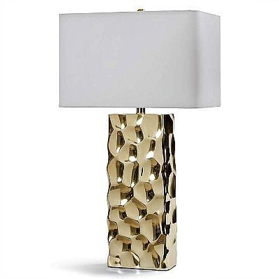 Unleash your personal decor style with the Apollo Table Lamp! Finished in a bright gold, this contemporary lighting accessory will add not only shine but also a textural element to the overall ambiance to any room.