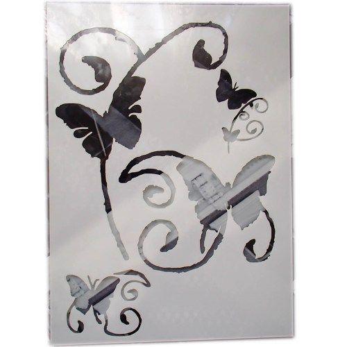Les 25 meilleures id es concernant pochoir papillon sur for Acheter pochoir mural