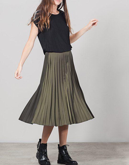 109 best jupes pliss es images on pinterest pleated skirts midi skirts and midi skirt. Black Bedroom Furniture Sets. Home Design Ideas