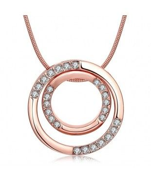 Double Ring Polished Necklace