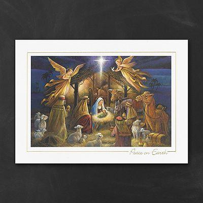 Radiant Nativity Christmas Cards Religious  Http://bustlingbride.carlsoncraft.com/Holiday