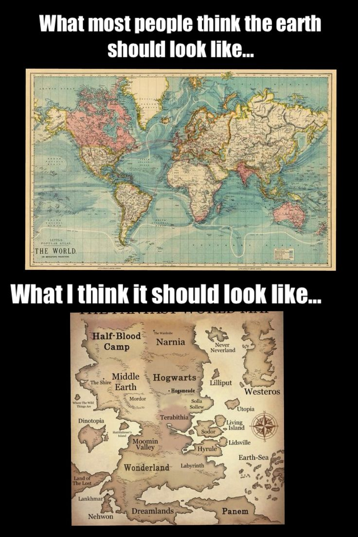 World vs fictional world. Hunger Games, Percy Jackson, Harry Potter, Lord of the Rings, Chronicles of Narnia, Alice in Wonderland, Peter Pan,  Etc.