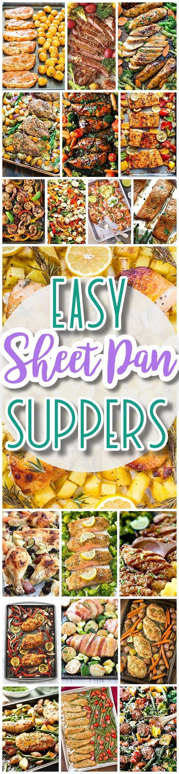 The BEST Sheet Pan Suppers Recipes - Easy and Quick Family Lunch and Simple Dinner Meal Ideas using only ONE SHEET PAN - Dreaming in DIY
