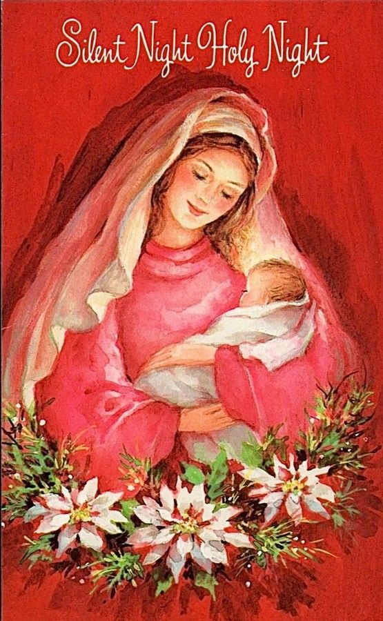 Old Christmas Post Сards — Madonna & Child   (555x900):