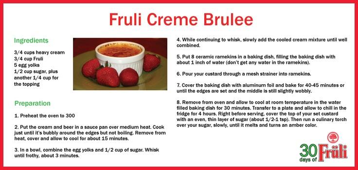 Cooking with beer: Fruli Creme Brulee