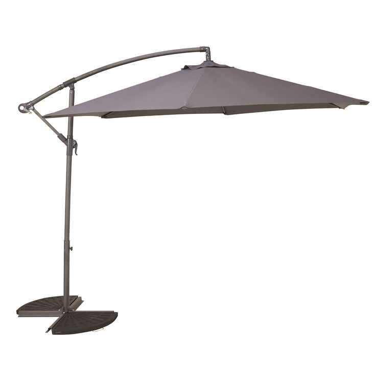 Malta 3.00m Anthracite Overhanging Parasol | Departments | DIY at B&Q